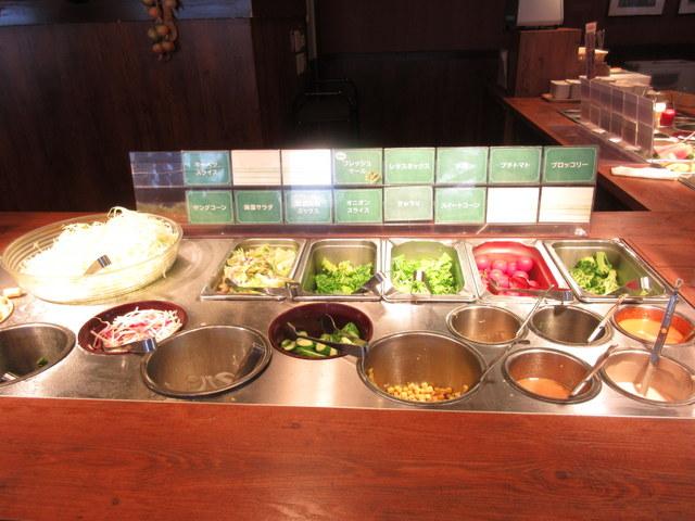 ステーキガストの健康サラダバー サラダ類