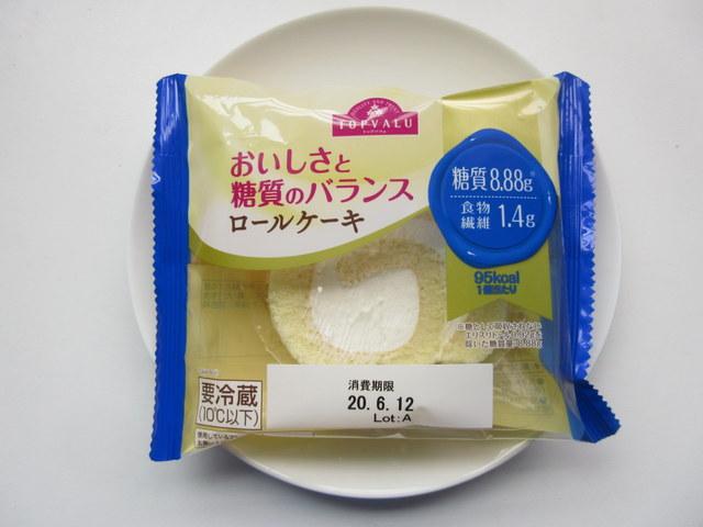 おいしさと糖質のバランス ロールケーキ 糖質8.88g
