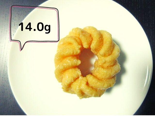 フレンチクルーラー 炭水化物量 14.0g