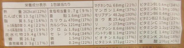 ベースブレッド(シナモン) 栄養成分表示