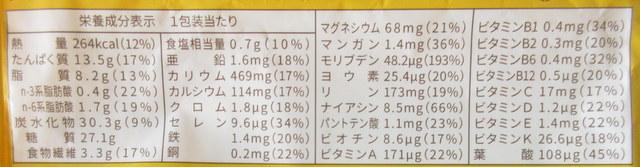 ベースブレッド(メープル)栄養成分表示